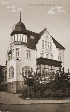 Historical exterior view of Seewarte Flensburg in 1914