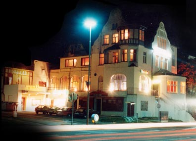 Guest house Seewarte in the year 1978 at night